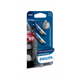 Ampoules PHILIPS White Vision H6W BAX9s B2 12V 6W
